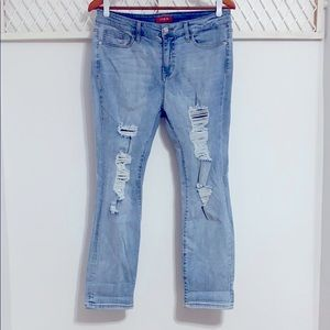 GUESS Straight Distressed Jeans